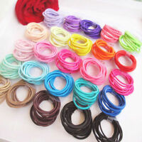 100X Fashion Elastic Rope Women Hair Ties Ponytail Holder Head Band Hairbands