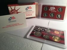 2005 US MINT SILVER PROOF SET - Complete w/ Original Box and COA #800