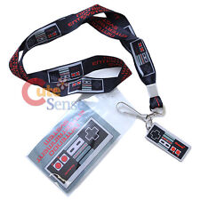 Nintendo Game Controller Lanyard  Kye chain  ID Holder with Charm