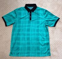 Men's Callaway Green and Black Golf Shirt-Size M