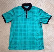 Men's Callaway Green and Black Golf Shirt-Size M