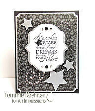REACH FOR THE STARS FOLLOW YOUR HEART Art impressions Rubber Stamps