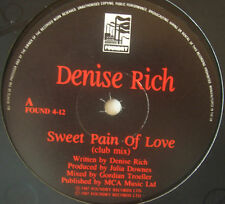 "DENISE RICH ~ Sweet Pain Of Love ~ 12"" Single"