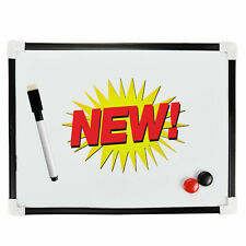 A4 Dry Wipe Magnetic Mini Office Whiteboard Notice Memo White Board Pen & Magnet