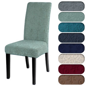 Jacquard Spandex Stretch Chair Covers Dining room Wedding Banquet Slipcovers*