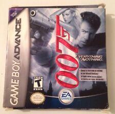 007 Tutto e niente GAMEBOY Gioco Completo AUTENTICO GBA Nintendo Versione USA