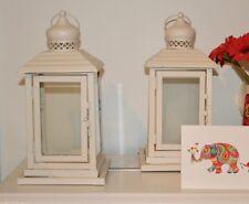 set of 2 cream Lanterns, 28 cm tall  weddings