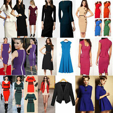 Knee Length Cotton Blend No Pattern Casual Dresses for Women