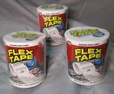Flex Seal Rubberized Waterproof Flex Tape 3 Pack 4 X 5 White