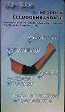 Q-Six® NEOPREN Ellenbogenbandage elastische Sport Ellbogen Gelenk Bandage Schutz