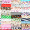 100PCS DIY Square Floral Cotton Fabric Patchwork Cloth For Sewing 10x10cm New