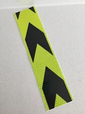 Hi-Vis Yellow Caution Adhesive Reflective Caution Tape Strip 50mm x 200mm