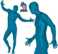Second Skin Suit Blue Bodysuit Adult Mens Smiffys Fancy Dress Costume - Medium