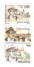 EMISSION COMMUNE 1994 FRANCE SUISSE et BELGIQUE : hommage à Georges Simenon