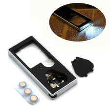 10X 3X Pocket Mini Magnifier Magnifying Glass LED UV Light Loupe Reading Jewelry