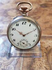 alte 800 Silber Alpina Taschenuhr das Uhrwerk ist Überzogen