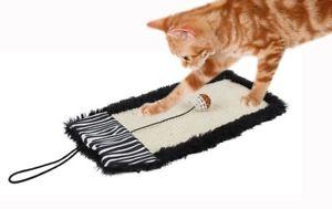 Pet Life 'Scrape-Away' Eco-Natural Jute Hanging Carpet Cat Scratcher With Toy