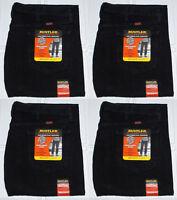 Rustler By Wrangler Men's Regular Fit Straight Leg Black Heavyweight Denim Jeans