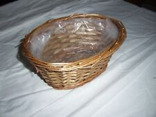 Wicker Basket Plastic Lined Plant pot