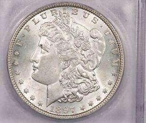 1897-P 1897 Morgan Silver Dollar S$1 ICG MS64