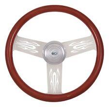"18"" 3 Spoke Flames Steering Wheel 3-Hole for Freightliner, Peterbilt,KW + more!"