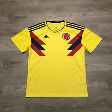 Adidas Colombia National Soccer Football Team Mens Yellow Soccer Jersey Size L