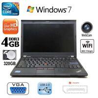 ULTRA FAST Lenovo Thinkpad X220 Laptop Windows 7 Office Core i5 320GB HDD Webcam