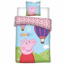 Peppa Pig  Duvet Cover & Pillowcase,Baby Toddler Bedding Set (100X135cm)