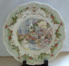 "Royal Doulton Brambly Hedge ~ The Snow Ball ~ 8"" Collectors Plate ~ Jill Barklem"