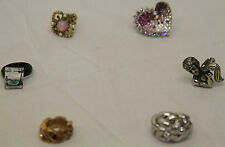 VARIOUS SIZE VINTAGE RETRO COSTUME JEWELRY RING LOT METAL PLASTIC ADJUSTABLE