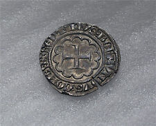 CRUSADER TRIPOLI BOHEMOND VII 1275 -1287 SILVER GROS, GROSS GREAT CONDITION