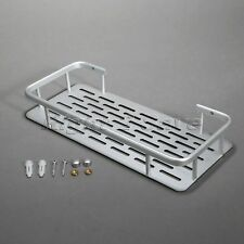 Rectangle Bathroom Kitchen Shower Storage Shelf Wall Mounted Holder Aluminium