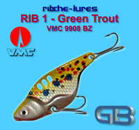 Cicaden Green Trout Kunstköder original RIBCHE LURES, VMC 9908 BZ 8g - 20g