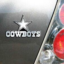 Dallas Cowboys 3D Emblem Raised Chrome Color Die Cut Auto NFL Decal Sticker