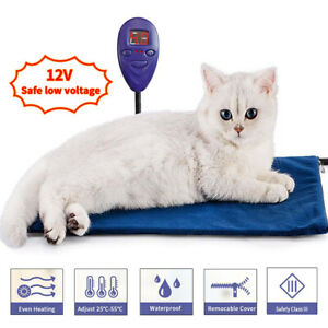Electric Pet Pad Blanket Heated Heated Pad for Dog, Cat and Rabbit Plant Bed