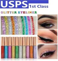 10Pcs/Set Party Colorful Sequin shadow Glitter Eyeliner Shimmer XMAS Home Party