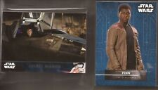 Star Wars The Force Awakens Series 2 163 Card Base and 5 Insert Chase Sets Topps