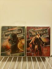 Pitch Black (2000) & Chronicles of Riddick (2004) bluray limited steelbooks Used