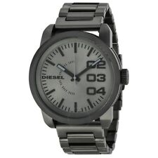 DZ1558 New Genuine DIESEL Double Down Grey S/Steel Watch  RRP £185