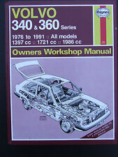 VOLVO 340 & 360 1976 ~ 1991 1397 1721 1986 CC   HAYNES SERVICE & REPAIR MANUAL