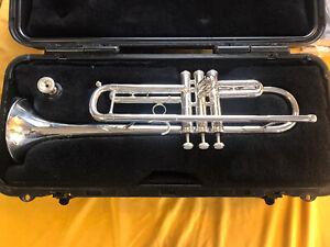 Callet New York Silver Plate Bb Trumpet, Case,  Mouthpiece, Pristine!  VG++