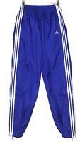 Vintage 90's Adidas Mens Nylon Windbreaker Track Pants Unlined Blue White Sz M