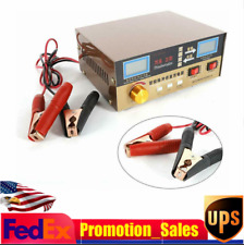 400Ah Full Automatic Car Auto Battery Charger Intelligent Pulse Repair 12V/24V