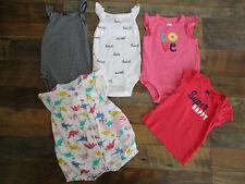 Carter's Lot Of 5 Outfits Infant Girls Size 6 Months Sleeveless Summer 1 T-Shirt