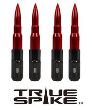 16 TRUE SPIKE 121MM 12X1.5 RED EXTENDED STEEL TUNER SPIKED BULLET LUG NUTS B