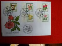 SWITZERLAND   ROSES  STAMPS COVER  POSTMARK PRO JUVENTUTE 1982