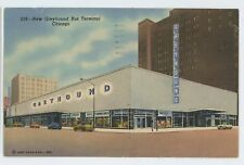 New Greyhound Bus Terminal Station CHICAGO IL Vintage Illinois Postcard