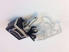 ON/ON DPDT 6P TOGGLE SWITCH SPADE TERM w/COVER TRANSPARENT 20A   #661905/665016