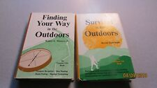 2 OUTDOOR LIFE BOOKS SURVIVAL THE OUTDOORS FINDING YOUR WAY OUTDOORS 1972 HCDJ