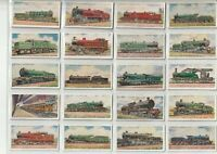 50 WILLS Tobacco Cards Railroad / RAILWAY ENGINES 1924 FULL SET VG Sleeved